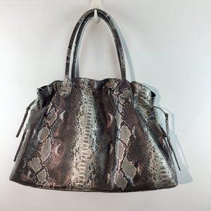 DSW metallic embossed snake skin print hobo bag